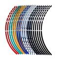 Motorcycle Wheel Tire Stickers Reflective Rim Tape Decals for HONDA CBR250R VFR 1200 F ST 1300 Black SpiRit NC750 S X
