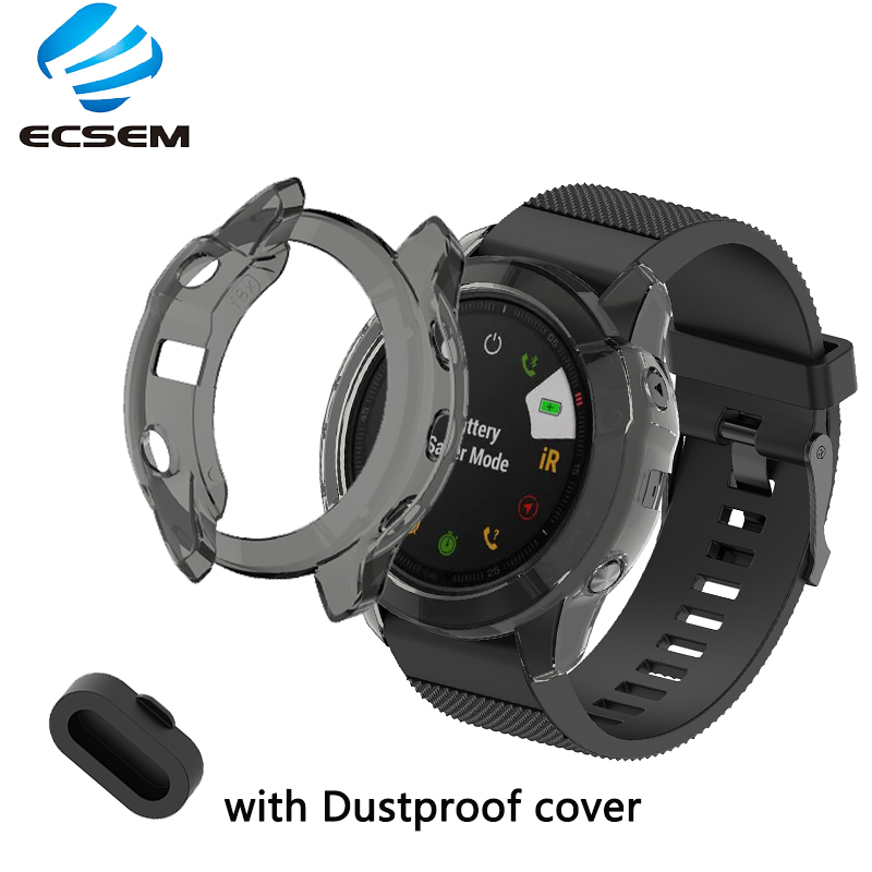 Protective Case For Garmin Fenix 6x Smart Watch Accessories Cover TPU Material With Dustproof Case Shell Anti Shock