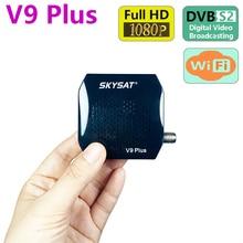 SKYSAT V9 artı HD süper Mini DVBS2 uydu alıcısı desteği CS WiFi 3G PVR PowerVu Biss V9 +