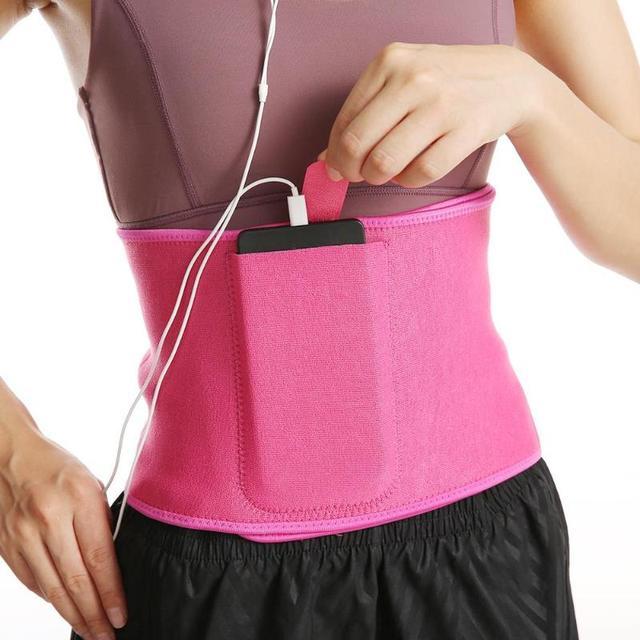Pocket Fitness Waist Belt Exercise Neoprene Weight Loss Sweat Waistband Slimming Adjustable Gym Training Abdomen Lumbar Support