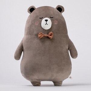Śliczne duży niedźwiedź zwierząt Anime Plushie dziecko miękkie nadziewane zabawki dekoracyjne Giant poduszka Kawaii pluszowe zabawki lalki dla chłopców dziewcząt dzieci prezent
