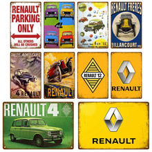 Renault Garage Metal Sign Poster Vintage Retro Tin Sign Plaque Metal Vintage Decor Room Decoration Wall Decor Shabby Chic Bar