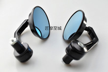 1Pair Universal 7/8 Round Bar End Rear Mirrors Moto Motorcycle Motorbike Scooters Rearview Mirror Side View