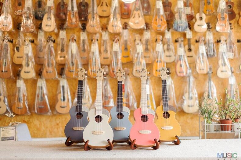 Anue nue – guitare ukulele homme arc-en-ciel, couleur unique, 23 pouces, épicéa, pour débutant, uc-10