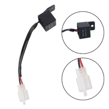 Motorcycle 2 Pin LED Flasher Relay Turn Signal Bulb Hyper Flash For Honda Kawasaki Suzuki two-wire/pin flasher Professional Kit professional universal chrome 12v car flasher relay fix led light street turn signal switch with flasher hyper flash car styling