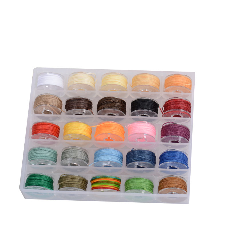 Oar 1Box Waxed Polyester Cord 25 Color Mini Color Plate Beaded String Rope Wear Resistant Woven Bracelet Line Self For DIY