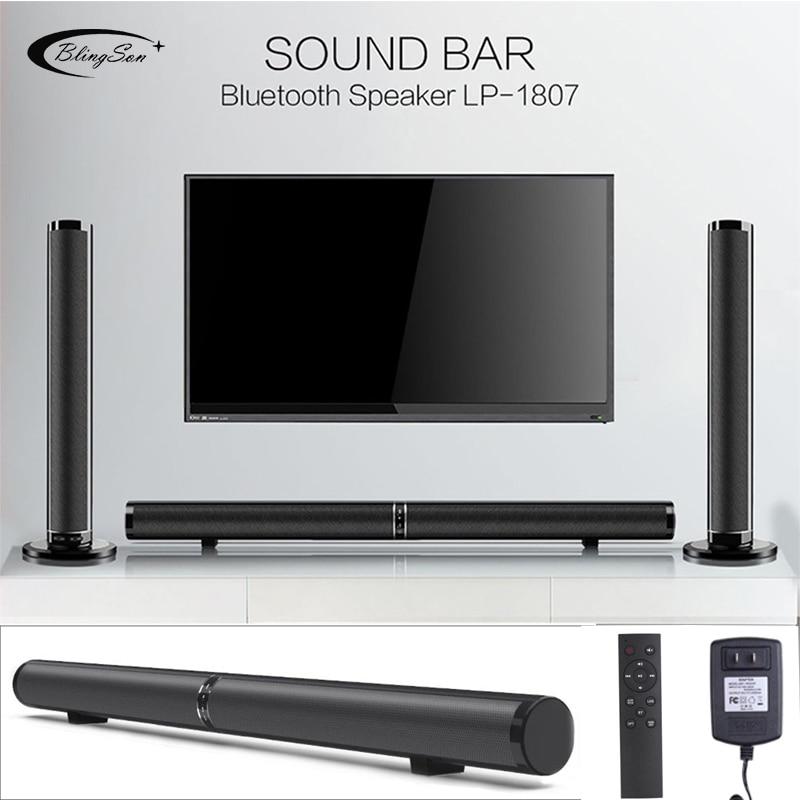 Wireless Bluetooth Speaker Soundbar TV Home Theater Sound BAR 3D Subwoofer AUX