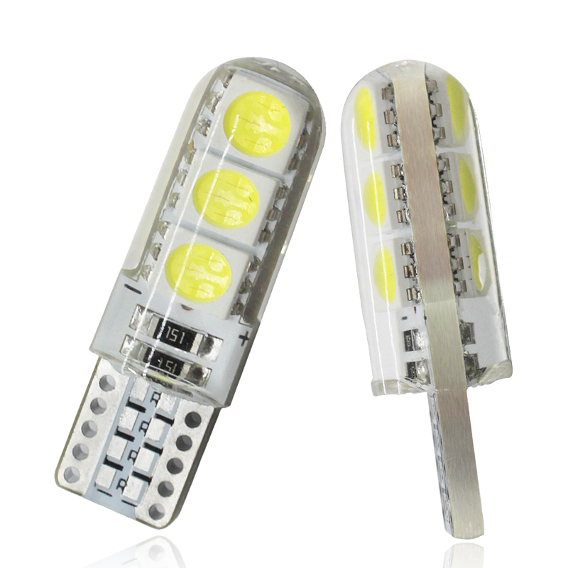 1x Car Signal Light T10 LED Bulb W5W 5W5 LED Bulb 192 168 12V 7000K 6SMD Auto Interior Dome Reading Lamps Wedge Side Light White