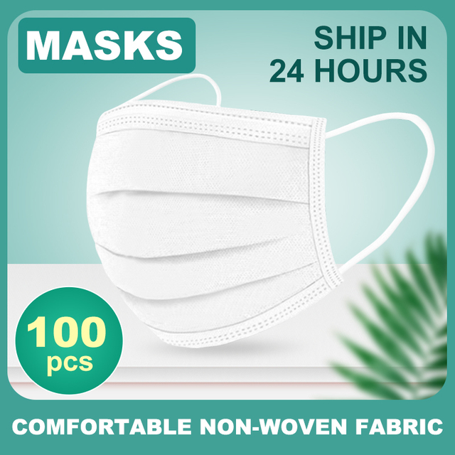 Mask Disposable Nonwoven 3 Layer Ply Filter Mask 50Pcs/100pcs  mouth Face mask filter safe Breathable dustproof Protective masks 5
