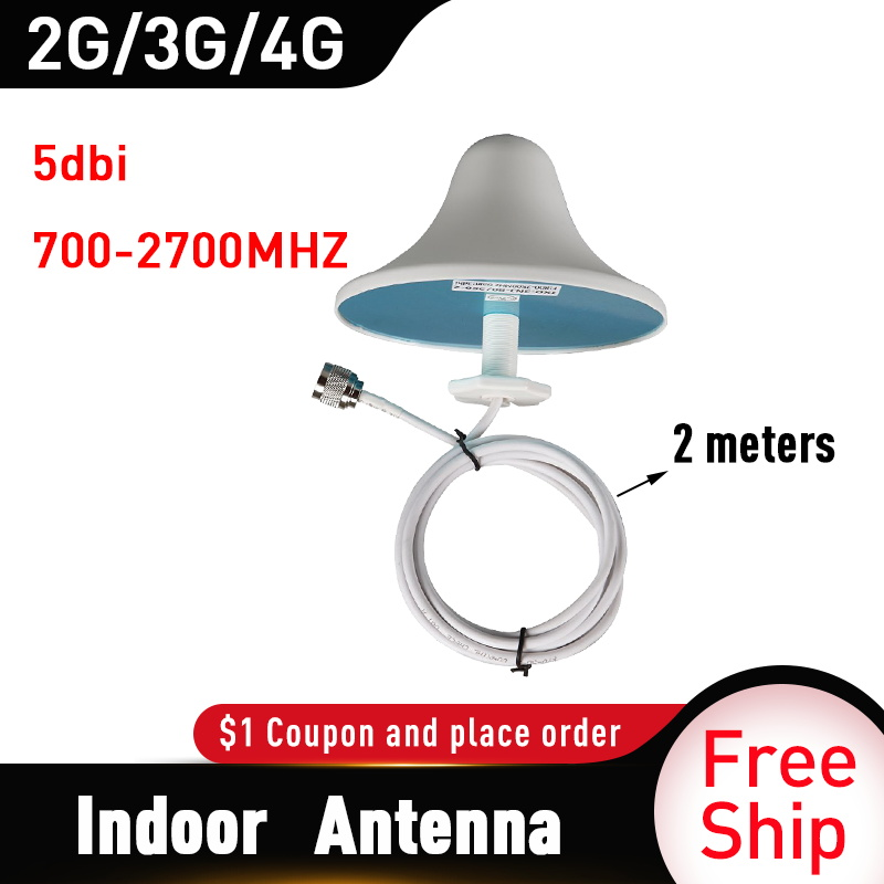 2G 3G UMTS 4G Antenna 4G LTE Indoor Ceiling Antenna 2M Cable N Male Connector For Mobile Signal Boostereater External 4G Antenna