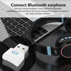 Image 4 - Usb Bluetooth Dongle Adapter 5.0 Voor Pc Computer Speaker Draadloze Muis Hoofdtelefoon Bluetooth Music Receiver Audio Zender