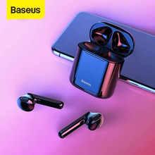 Baseus Auriculares W09 TWS, inalámbricos por Bluetooth 5,0, Auriculares manos libres estéreo con sonido HD