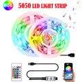 Bluetooth 5050 светодиодный полоски светильник RGB инфракрасный пульт дистанционного Управление; USB 5V лампа Гибкая лента диод Подсветка светильник...