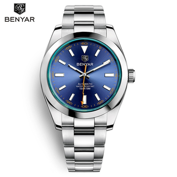 BENYAR Mens Watches Top Brand Luxury Mechanical Automatic Watch Men Sport For Waterproof Military Lightning pointer