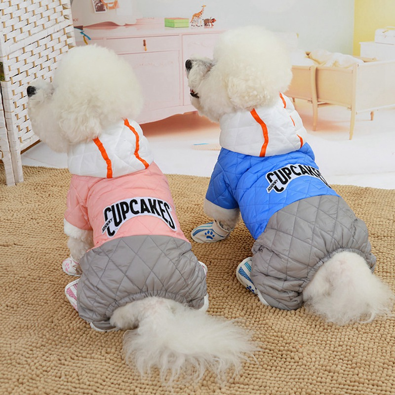 <font><b>Pet</b></font> <font><b>Dog</b></font> Winter Clothes Warm Fur Collar Coats Thicken Jacket Puppy Coat For French Bulldog Chihuahua Small <font><b>Dogs</b></font> <font><b>Pets</b></font> <font><b>Clothing</b></font> image