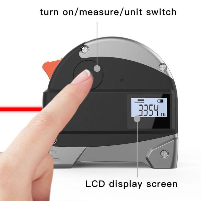 2 w 1 30M dalmierz laserowy LCD cyfrowy taśma miernicza miernik odległości miernik dalmierz na podczerwień budowy narzędzie pomiarowe