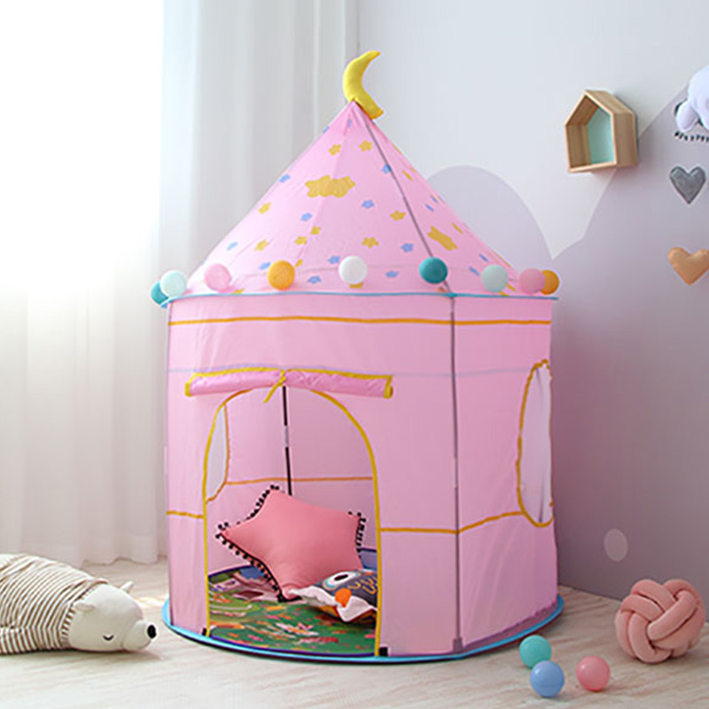 Foldable Children Tent Folding Kids Tent Ball Pool Children's Houses Princess Girl Toys Children's Room Out Door Fun Toy
