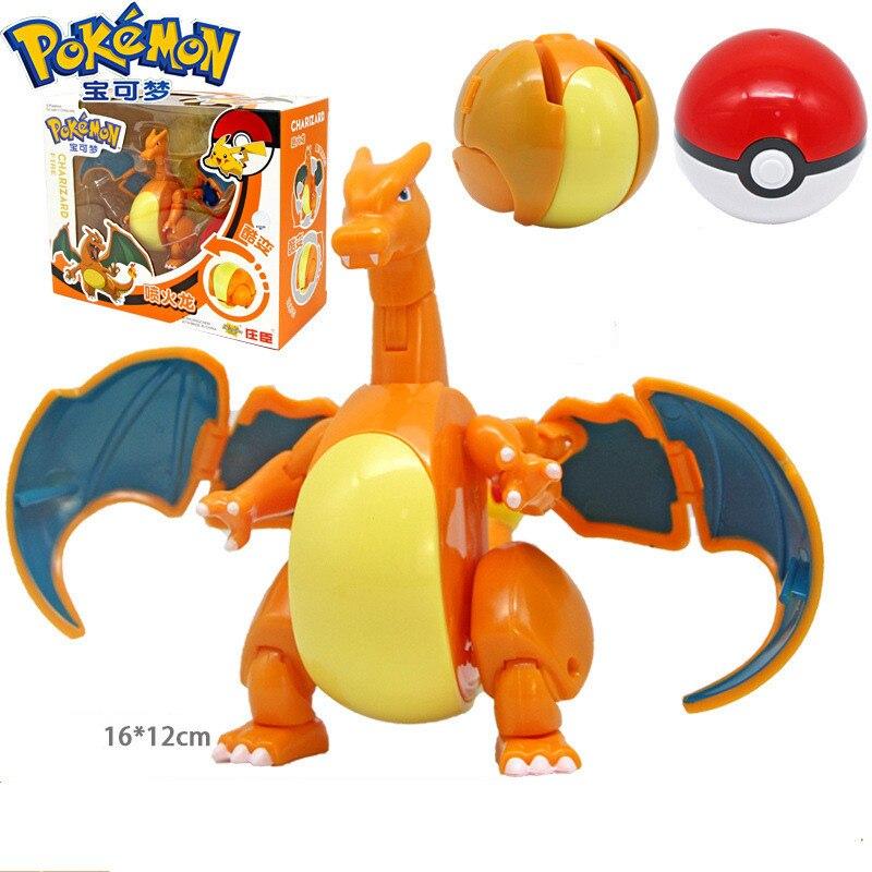 Pokeball toys Elf Pet Deformation Set Golfer Do Pikachu Toys Spitfire Dragon Little Super Dream Pokemon