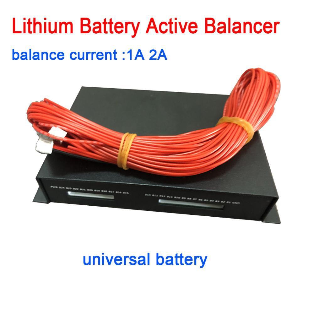 1A 2A bilans 2S ~ 16S bateria litowa aktywny korektor Bluetooth APP BMS Li-ion Lipo Lifepo4 LTO 4S 7S 8S 10S 14S 12V 24V 48V