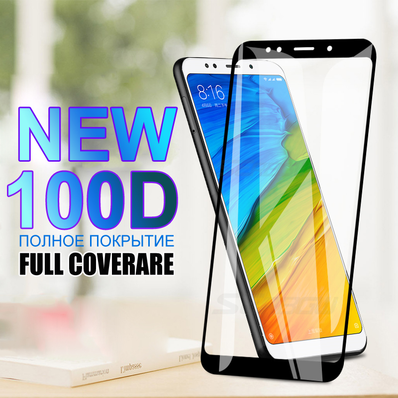 100D Tempered Glass For Xiaomi Redmi 5 Plus 5A Go 6 6A S2 7A Screen Protector Redmi Note 5 5A 6 Pro Safety Glass Protective Film(China)