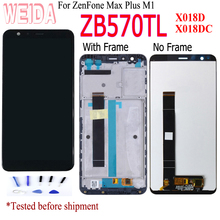 lcd For ASUS ZenFone Max Plus M1 ZB570TL LCD X018DC X018D LCD Display Touch Screen Digitizer Sensor Glass Assembly with Frame стоимость