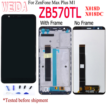 lcd For ASUS ZenFone Max Plus M1 ZB570TL LCD X018DC X018D LCD Display Touch Screen Digitizer Sensor Glass Assembly with Frame original for asus zc550tl lcd display touch screen digitizer assembl for asus zenfone 4 max plus zc550tl lcd frame x015d replace