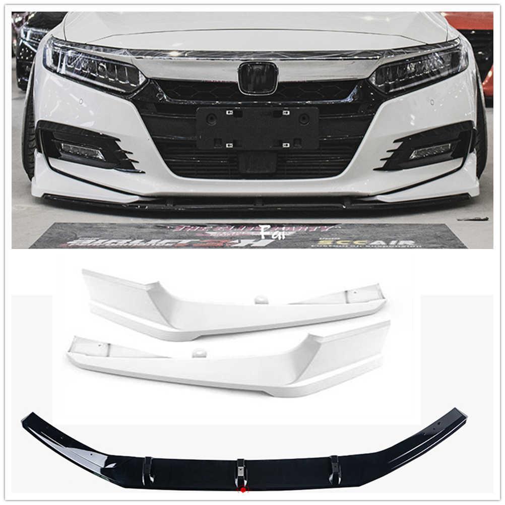 2pcs Front Bumper Splitter Side Moulding Cover Trim For Honda Accord 2018 Black