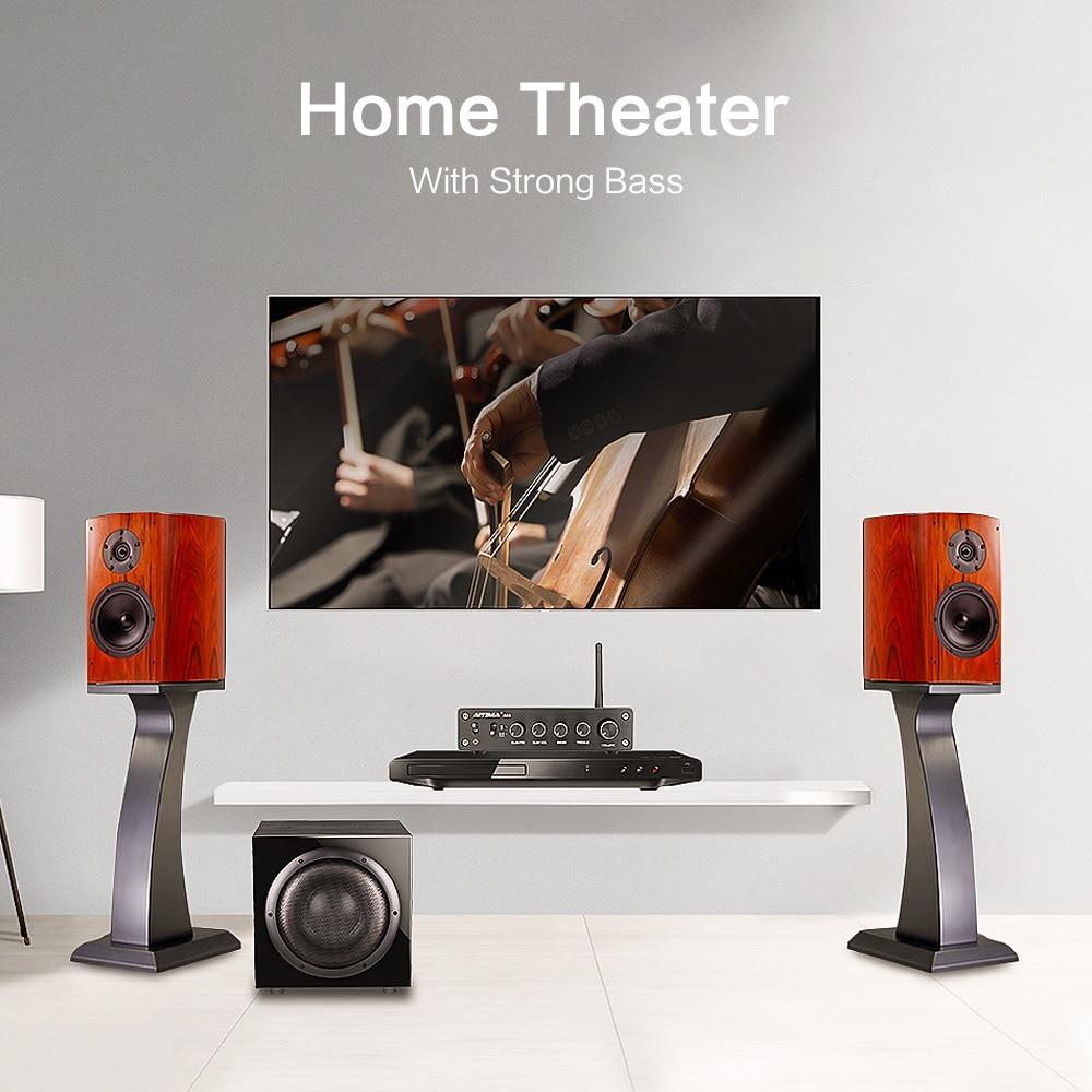 AIYIMA TPA3116 Subwoofer Bluetooth Amplifier HiFi TPA3116D2 2.1 Channel Digital Audio Amplifiers 50W*2+100W DC12-24V