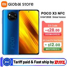 Globalna wersja Xiaomi POCO X3 NFC 6GB 64GB 6GB 128GB Smartphone Snapdragon 732G Octa Core 64MP Quad Camera 6 67 #8222 120Hz 5160mAh tanie tanio Niewymienna inny CN (pochodzenie) Android Rozpoznawania linii papilarnych ≈64MP USB-PD english Rosyjski Niemieckie French