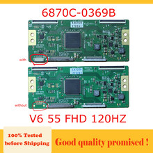 Carte principale de Test TV, V6 55 FHD 120HZ, TCON 6870c 0369b lg tv