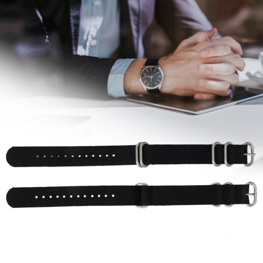 Watches Accessory Nylon Watchband Strap Replacement Watch Band Watch Watch Accessory With a Ring and Five Rings Watch Strap