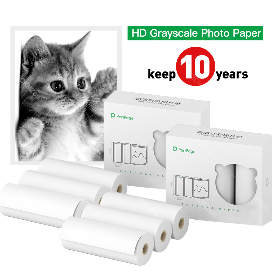 Thermal Photo Paper 77*30mm With Higher Definition For Peripage A9 PRO Photo Pocket Printer
