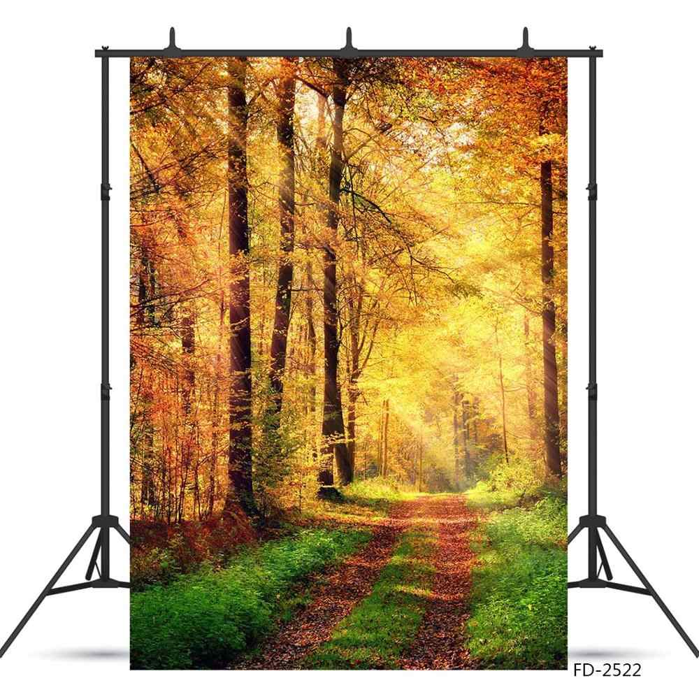 10x15 FT Backdrop Photographers,Autumn Fall Season Trees Falls Dried Leaves Scenery on Road Path Photo Artwork Background for Kid Baby Boy Girl Artistic Portrait Photo Shoot Studio Props Video Drape