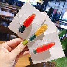 1pcs Girls Hair Clips Cute Fruit Design Hair Pin Children Hairpin Princess Hair Accessories
