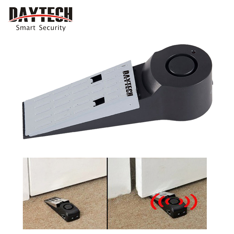 DAYTECH Wireless Vibration Door Stop Alarm Block Security Alarm  Anti Theft Burglar Alert System Home Safely Security Detection