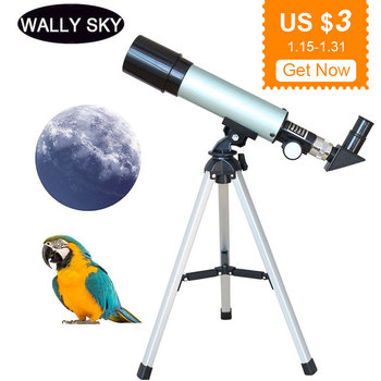 90X Kids Astronomical Telescope Outdoor Table Monocular Astronomical Telescope with Tripod Space Moon Watching  Spotting Scope 20 60x60 monocular telescope super telescope waterproof adjustable ultra clear for bird watching hunting with tripod