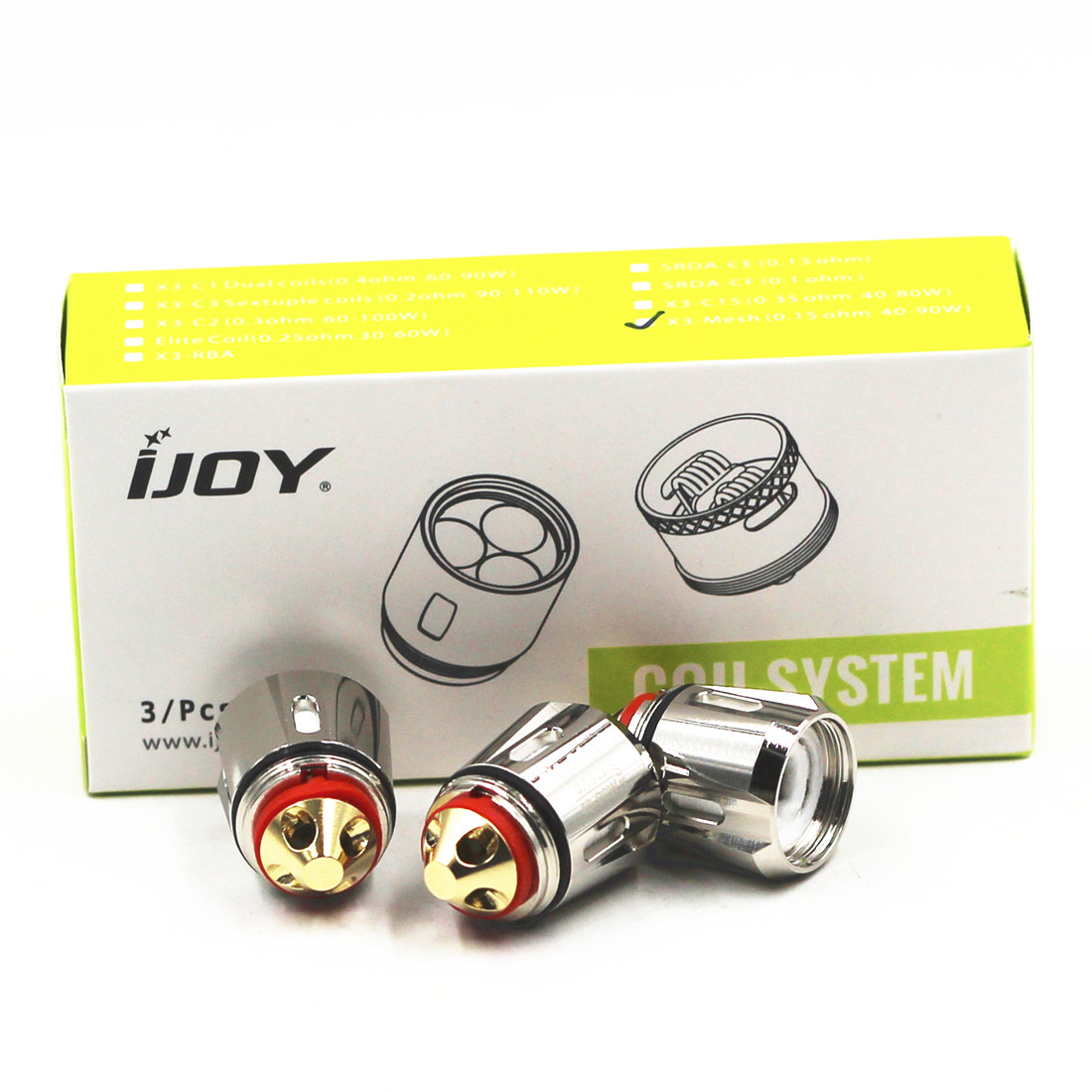 Original IJOY Captain Avenger X3-Mesh Replacement Coil 0.15ohm Heads 3pcs/pack