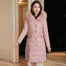 Winter Coat Women Korean Fashion Parka Jackets Woman Pu Leather Jacket Parka Coat Women Fur Hooded Thick Puffer Jacket Plus Size цена и фото