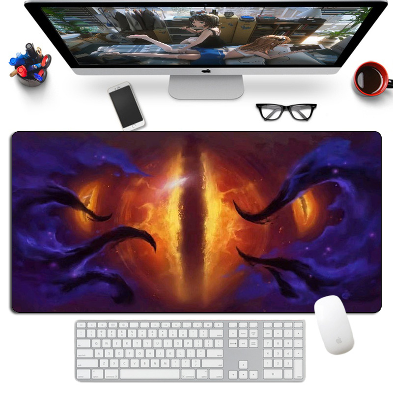 60x30cm Visions Of N'Zoth Mousepad Rubber Large Warcraft Gaming Mouse Pad Gamer Anime Otaku Custom Computer XL Desk Boy Gift Mat