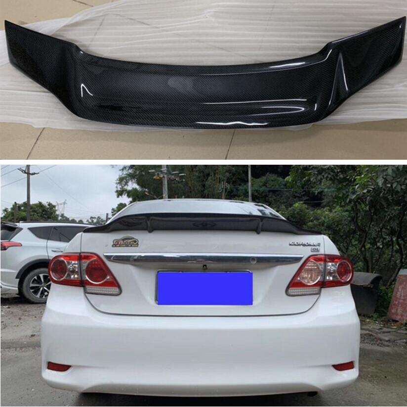High Quality CARBON FIBER & ABS REAR WING TRUNK LIP <font><b>SPOILER</b></font> FOR <font><b>Toyota</b></font> <font><b>Corolla</b></font> 2006 2007 2008 2009 <font><b>2010</b></font> 2011 2012 2013 R STYLE image