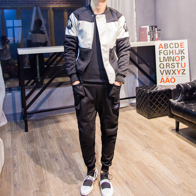 Store Owner-Style 2015 New Style High-Style Athletic Pants Popular Brand Men'S Wear Fashion Korean-style Lace-up Ankle Banded Pa