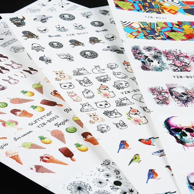 48-Hot Selling Style Nail Sticker Dreamcatcher Cartoon Dandelion Fruit Ice Cream Watermark Nail Sticker