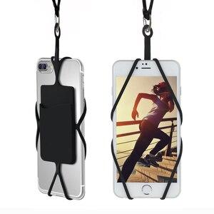 Para lg d605 optimus l9 ii caso macio silicone borracha pescoço cinta caso do telefone para lg g flex 2 f510 h959 cartão titular bolsa
