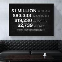 Leinwand Malerei Amerikanischen Dollar Startseite Dekoration 1 Millionen Wand Kunst Bild Drucke Geld Modulare Modernen Rahmen Poster Wohnzimmer