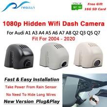 Автомобильный видеорегистратор Realsun 1080P с Wi-Fi, видеорегистратор с двумя объективами, простая установка для Audi A1 A3 A4 A5 A6 A7 A8 Q2 Q3 Q5 Q7