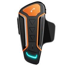 цена на Motorcycle 1000M Microphone Bluetooth Motorbike Helmet Intercom Interphone Waterproof Headset FM Radio
