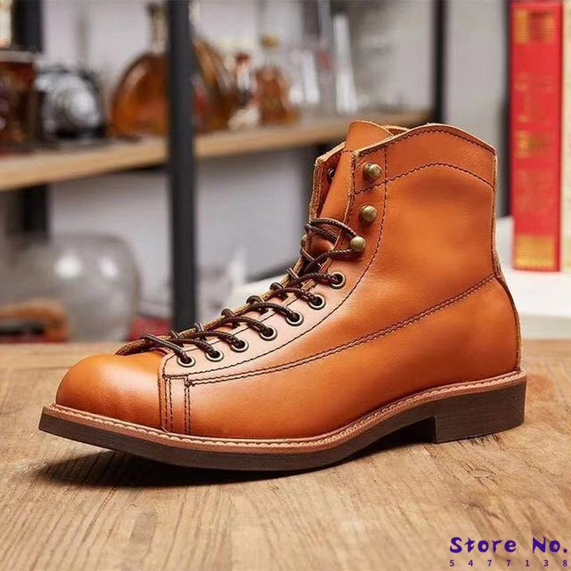 Men ankle boots lace up shoes male man warm shoe men s winter autumn leather gladiator