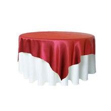 Скатерть атласная прямоугольная текстиль для свадьбы вечеринки