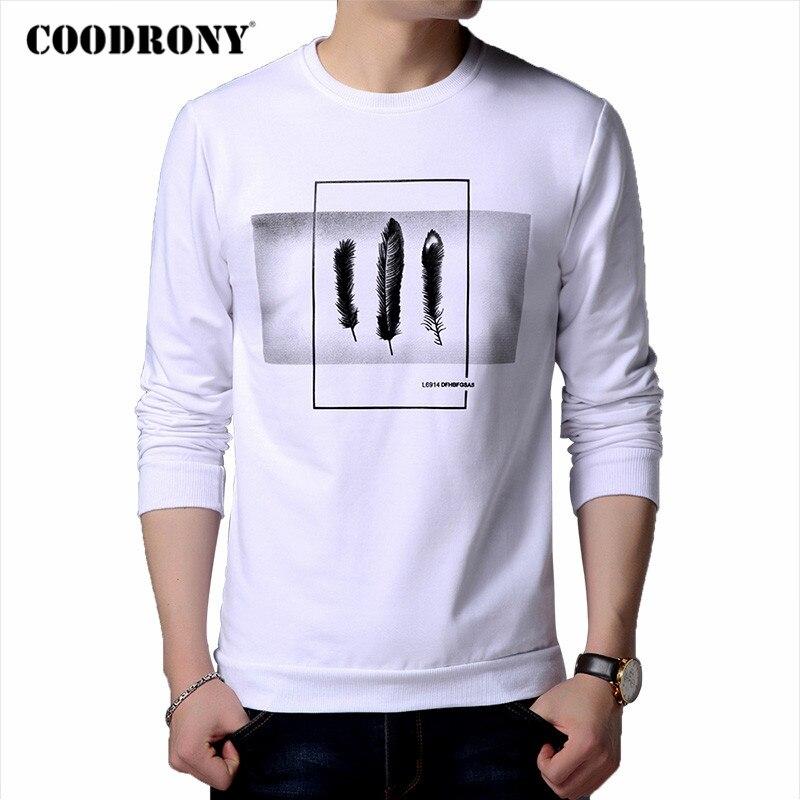 COODRONY Brand Hoodie Men 2020 Autumn New Arrivals Mens Sweatshirt Cotton Clothing Winter Fashion Leaves Print Man Hoodies C4004