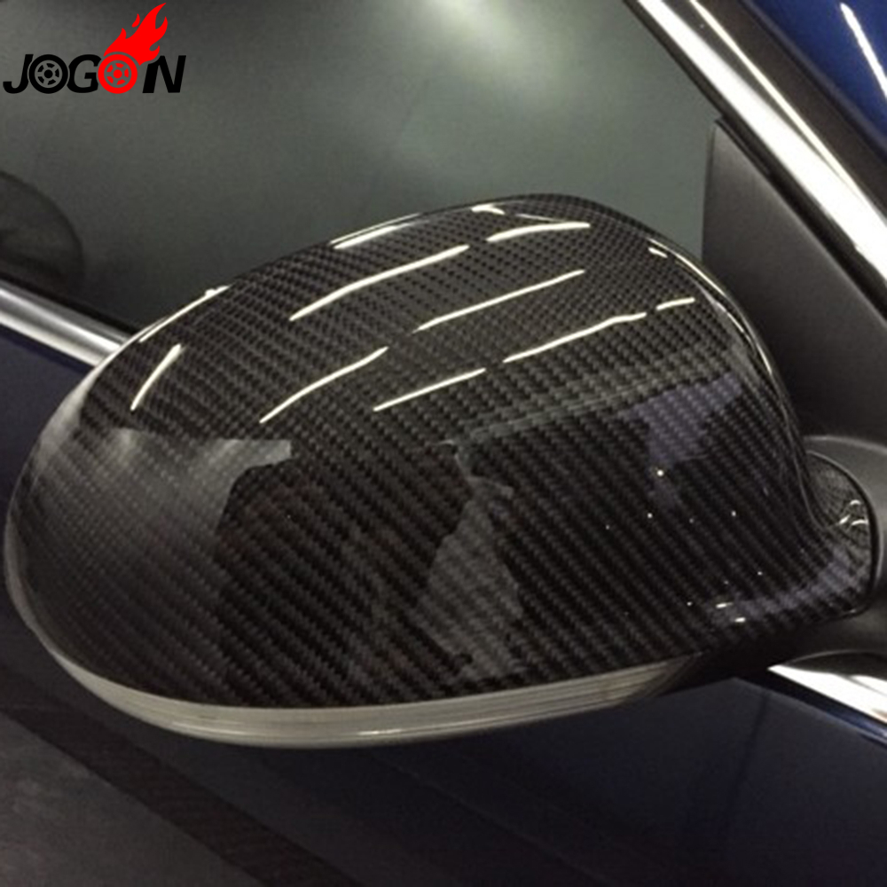 For Volkswagen <font><b>VW</b></font> <font><b>GOLF</b></font> <font><b>5</b></font> Plus <font><b>GTI</b></font> Jetta MK5 Passat B6 EOS Sharan Superb Side Wing Rear View Rearview Mirror Cover <font><b>Carbon</b></font> Fiber image